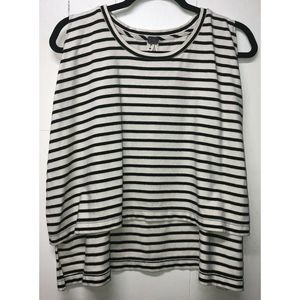 Free People Cropped Striped Top Sz S